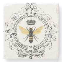 MODERN VINTAGE french queen bee Stone Coaster