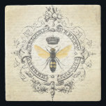 """modern vintage french queen bee stone coaster<br><div class=""""desc"""">modern vintage french queen bee</div>"""