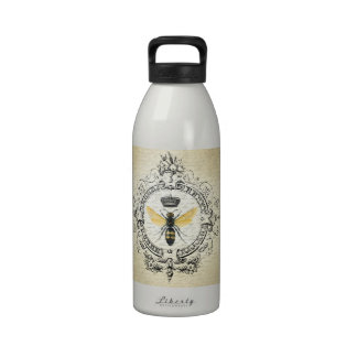 modern vintage french queen bee reusable water bottles