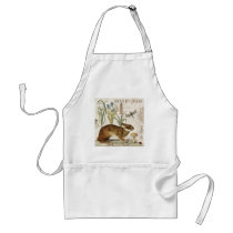 modern vintage french rabbit in the garden adult apron