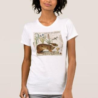 modern vintage french rabbit in the garden shirt