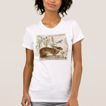 modern vintage french rabbit in the garden T-Shirt