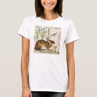 modern vintage french rabbit in the garden T-Shirt