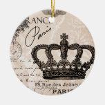 modern vintage french shabby chic crown ceramic ornament