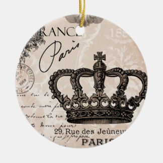 modern vintage french shabby chic crown ceramic ornament