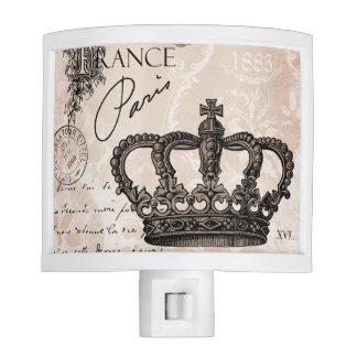 modern vintage french shabby chic crown night light