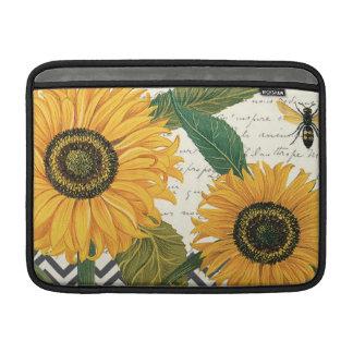modern vintage french sunflower MacBook air sleeve