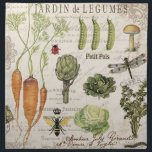 "modern vintage french vegetable garden cloth napkin<br><div class=""desc"">modern vintage french vegetable garden</div>"