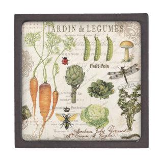 modern vintage french vegetable garden gift box