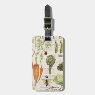 modern vintage french vegetable garden bag tag