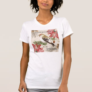 modern vintage french winter bird T-Shirt