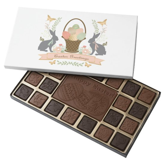 Modern Vintage Graphic Easter collage 45 Piece Box Of Chocolates