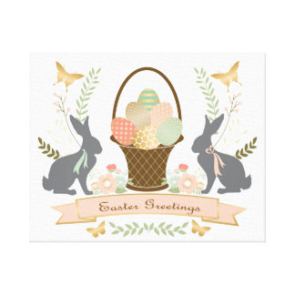 Modern Vintage Graphic Easter collage Canvas Print
