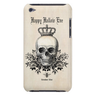 Modern Vintage Halloween skull with crown iPod Touch Cover