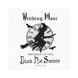 Modern Vintage Halloween witch Gallery Wrap Canvas