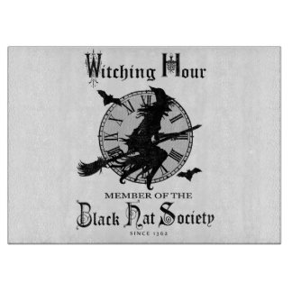 Modern Vintage Halloween witch Cutting Board