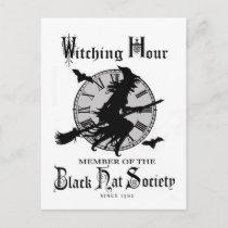 Modern Vintage Halloween witch Holiday Postcard