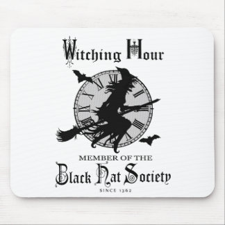 Modern Vintage Halloween witch Mouse Pad