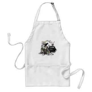 Modern vintage Halloween WITCHES BREW Adult Apron