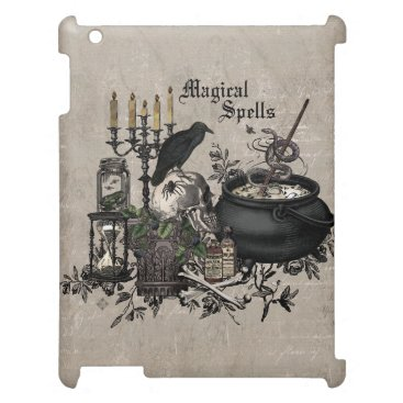 Modern vintage Halloween WITCHES BREW iPad Case