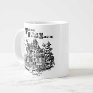 modern vintage haunted mansion giant coffee mug