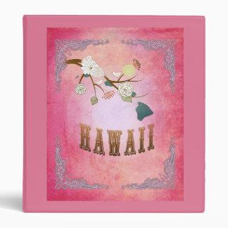 Modern Vintage Hawaii State Map- Candy Pink Binder
