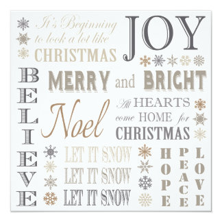 Holiday Phrases Invitations & Announcements | Zazzle