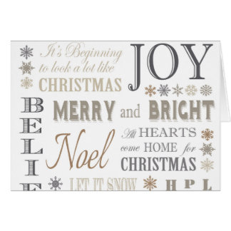 Holiday Phrases Typography Cards | Zazzle