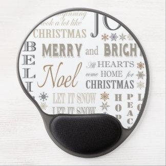 modern vintage holiday phrases gel mouse mat