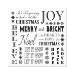 modern vintage holiday words gallery wrap canvas