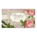Modern Vintage Lace Tea Stained Hydrangea n Roses Double-Sided Standard Business Cards (Pack Of 100)