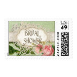 Modern Vintage Lace Tea Stained Hydrangea n Roses Stamp