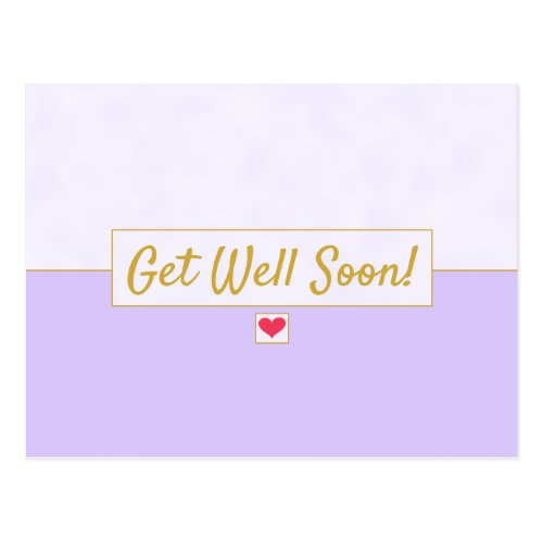 Modern Vintage Lavender Purple Get Well Lined Pos Postcard