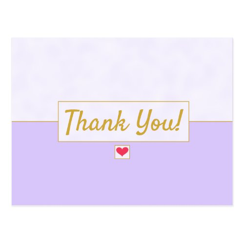 Modern Vintage Lavender Purple Thank You Lined Postcard