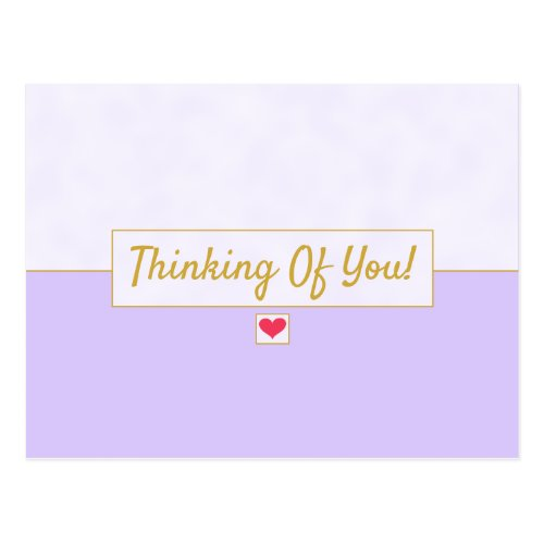 Modern Vintage Lavender Purple Thinking Of You Postcard