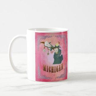 Modern Vintage Michigan State Map- Candy Pink Coffee Mug