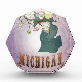 Modern Vintage Michigan State Map- Sweet Lavender Award