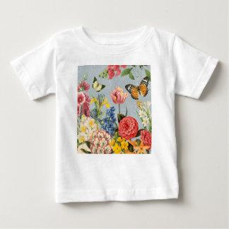 modern vintage multl botanical flowers baby T-Shirt