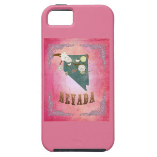 Modern Vintage Nevada State Map- Candy Pink iPhone 5 Cover