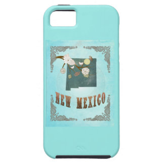 Modern Vintage New Mexico State Map – Aqua Blue iPhone 5 Covers