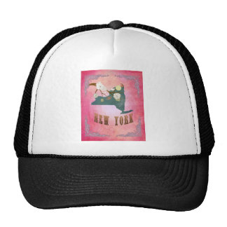 Modern Vintage New York State Map- Candy Pink Trucker Hat