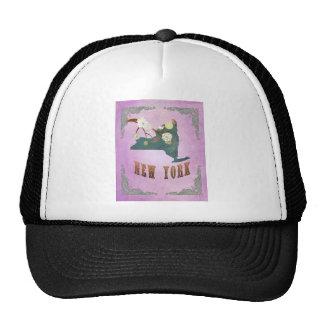 Modern Vintage New York State Map-Grape Purple Trucker Hat