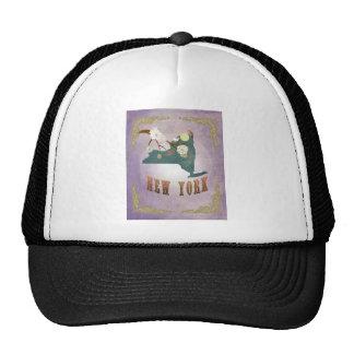Modern Vintage New York State Map- Sweet Lavender Trucker Hat