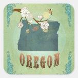 Modern Vintage Oregon State Map – Sage Green Square Sticker