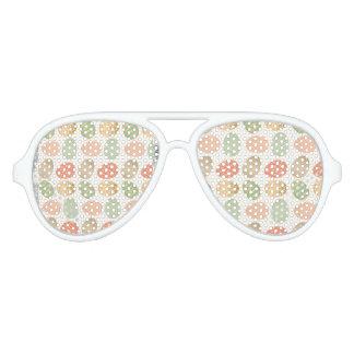 modern vintage pastel graphic easter eggs aviator sunglasses