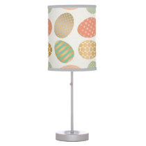modern vintage pastel graphic easter eggs table lamp