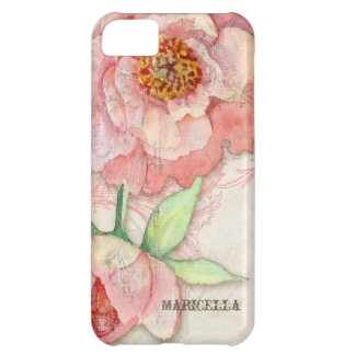 Modern Vintage Peony Floral Swirls Antique Vintage Case For iPhone 5C