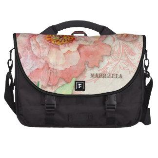 Modern Vintage Peony Floral Swirls Antique Vintage Commuter Bags