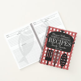 Modern Vintage Personalized Recipe Notebook