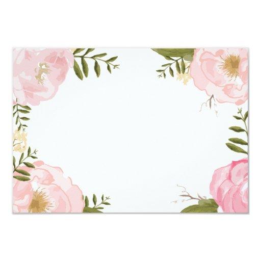 Modern Vintage Pink Floral Wedding Blank Card | Zazzle